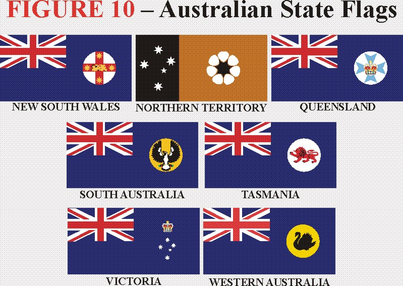 Aussie state flags